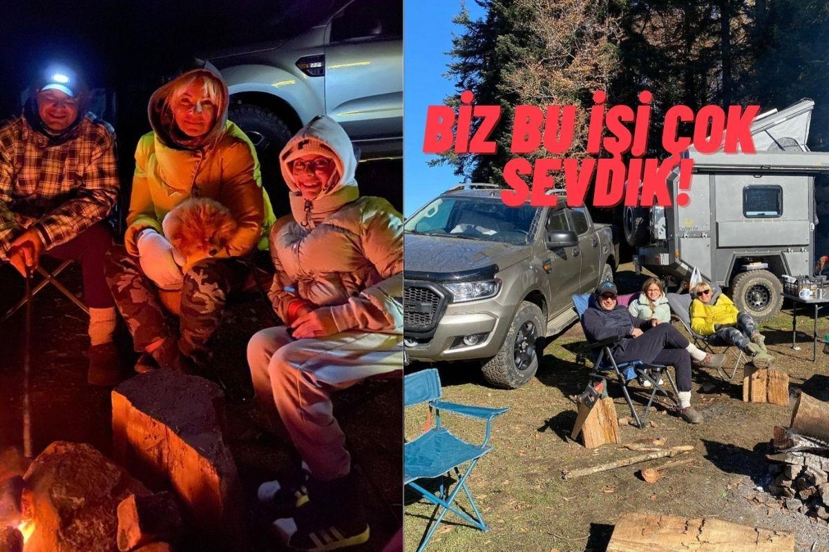 Pınar Altuğ ve Ailesinin Telefonların Bile Çekmediği Bir Yerde Geçirdiği Harika Kamp Macerası!