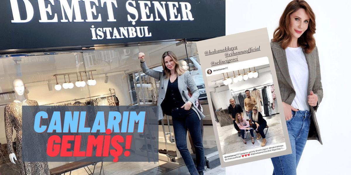 Demet Şener'in Yeni Mağazasını Selin Ciğerci, Hakan Akkaya ve Cihan Şensözlü Ziyaret Etti!