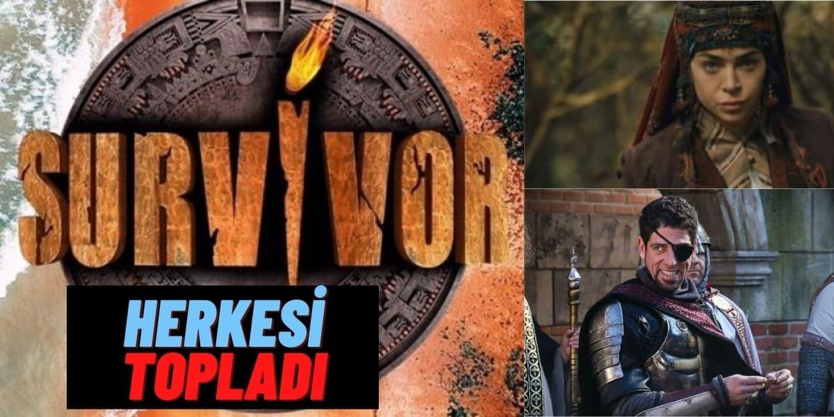 """Survivor 2021 Efsane Dizinin Oyuncularını Tek Tek Kadrosuna Katıyor! Ünlüler Takımı """"Diriliş: Ertuğrul"""" Seti Gibi"""