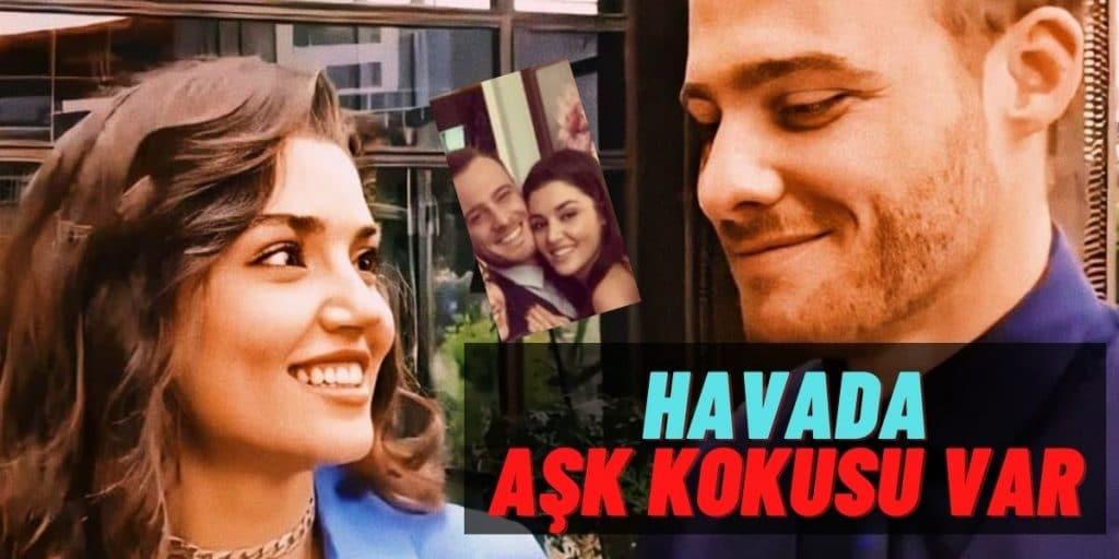 """""""Sen Çal Kapımı"""" Setinden Olay Yaratacak Poz! Kerem Bürsin ve Hande Erçel Aşkı İddiaları Tekrar Alevlenecek"""