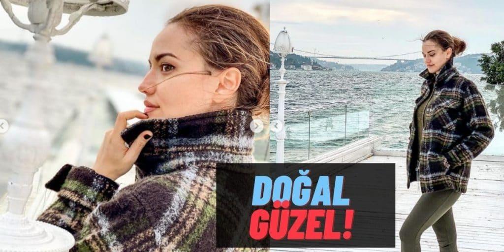 """Setlere Geri Dönmeye Hazırlanan Fahriye Evcen'den Makyajsız """"İstanbul"""" Pozları Geldi: Çok Fit!"""