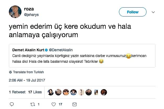 Demet Akalın tweet