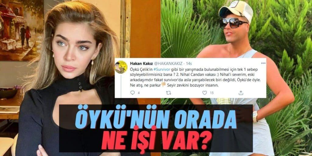 """Fenomen Hakan Kakız'dan Survivor'a Eleştiri Geldi! Hedefinde Öykü Çelik Vardı: """"Seyir Zevkimi Bozuyor!"""""""