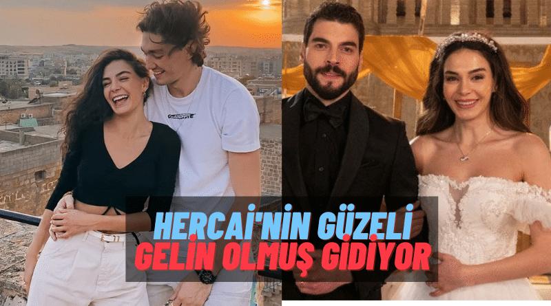 25 Bin TL'lik Mesaj! Hercai'nin Yıldızı Ebru Şahin Gelinlik Giydiği Fotoğrafı Sevgilisi Cedi Osman'a Göndermiş