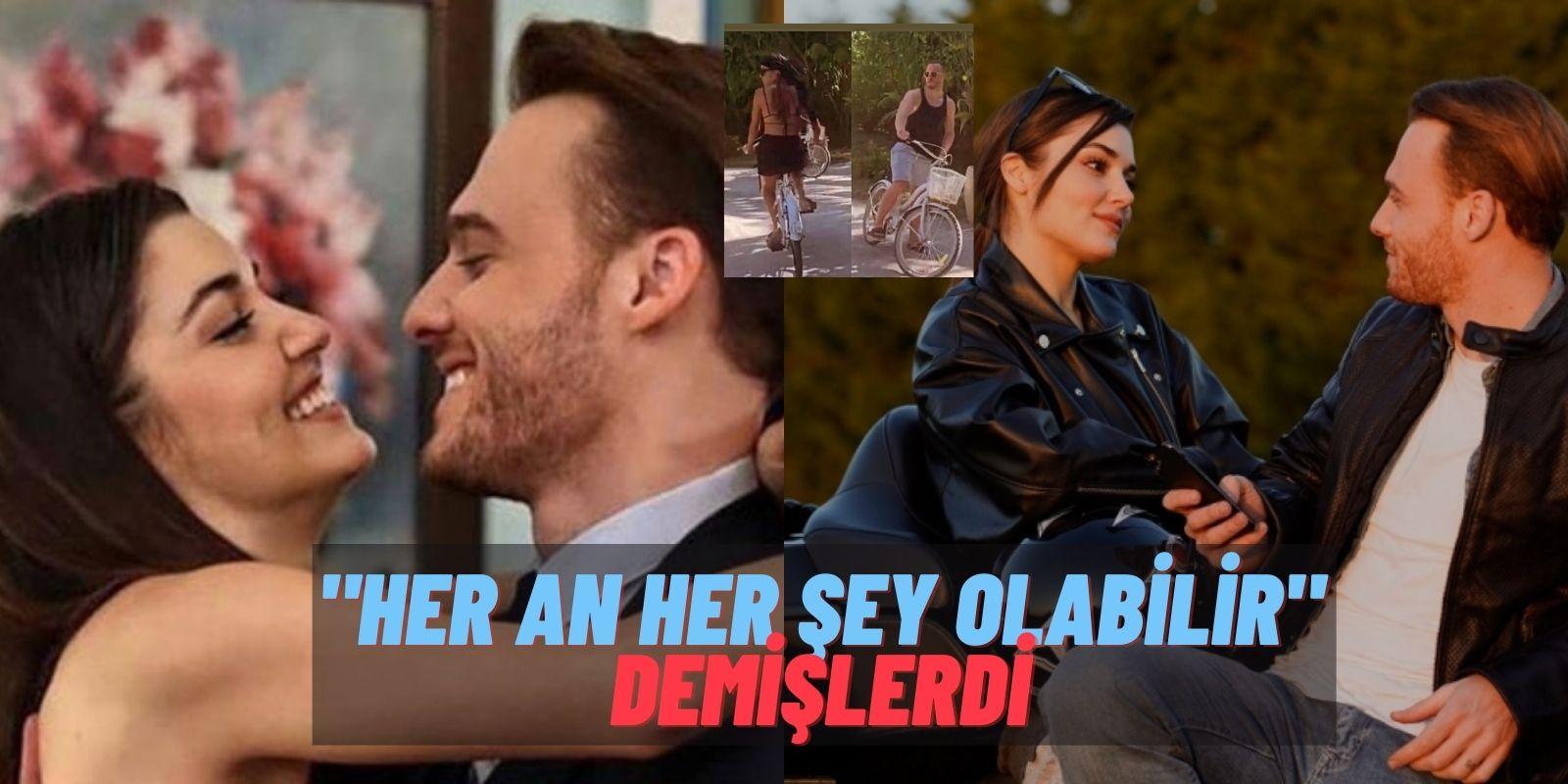 Hande Erçel'in Kıskançlık Krizi İşe Yaradı! Kerem Bürsin ve Hande Erçel Çifti Bisiklet Turunda Enselendi